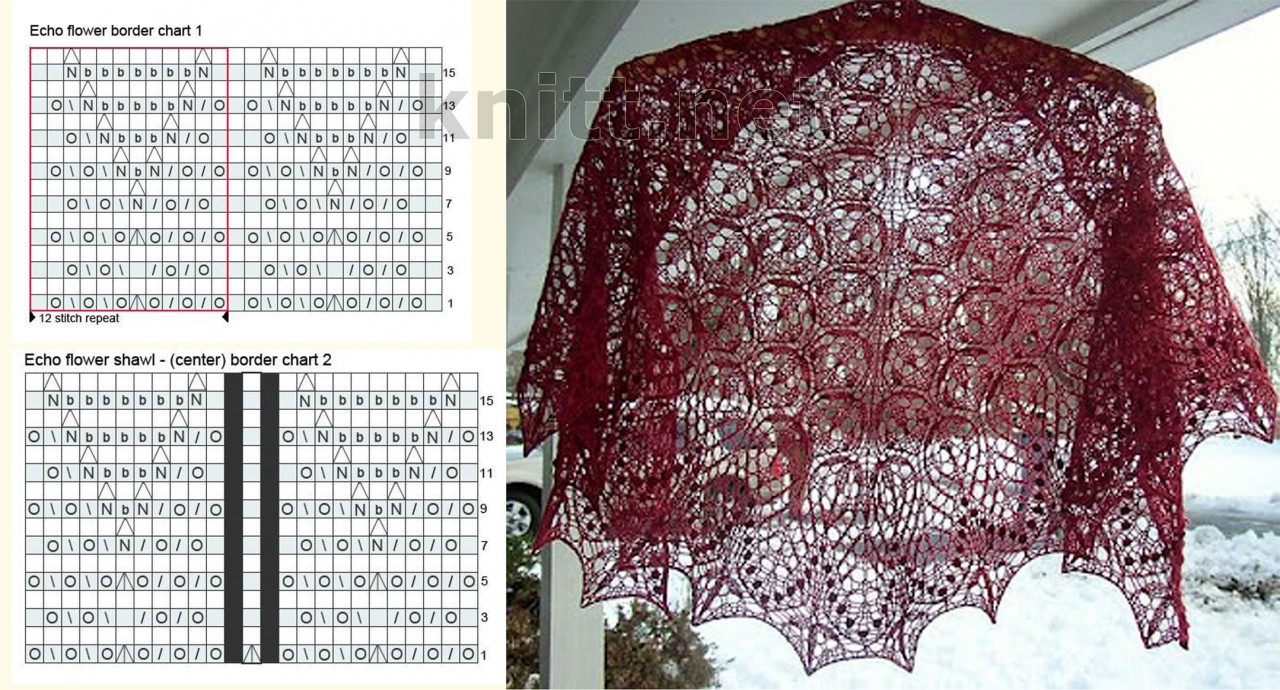 Вязание шали спицами холода