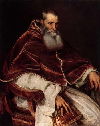 Тициан. Портрет папы Павла III