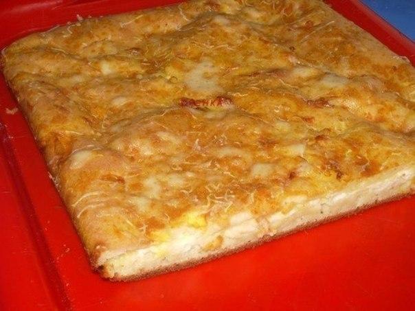 Обожаю этот пирог — Наливной пирог с сыром. Объедение и главное легко готовить!