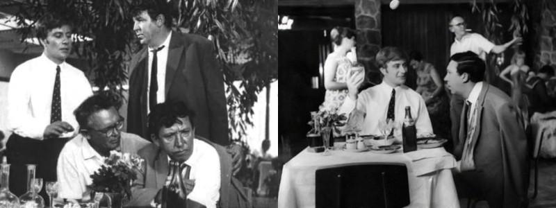 """Фото со съёмочной площадки """"Бриллиантовой руки"""" Гайдай, Папанов, бриллиантовая рука, миронов"""