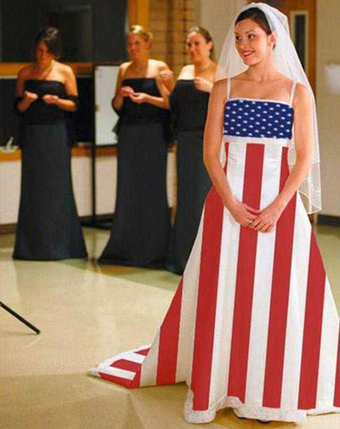 7. Патриотизма много не бывает! Свадебные платья, свадьба
