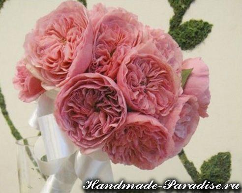 Английская роза Дэвида Остина из ткани. МК