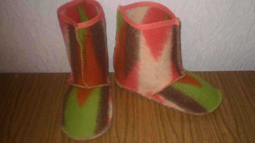 Тёплая обувь своими руками 23