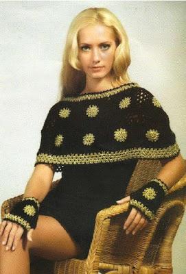 .Вязание пончо