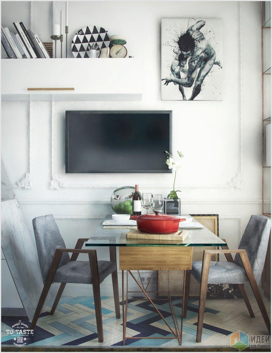 Кухня-гостиная в студии, двухуровневая квартира фото