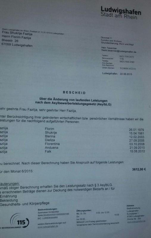 3 612 Евро - Пособие на одну семью беженцев в Германии