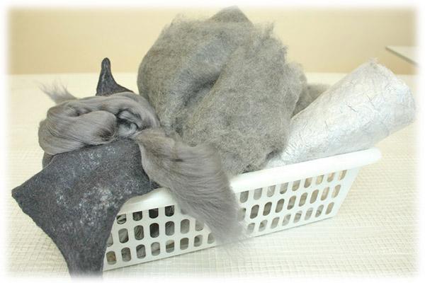 Расскажите, птицы... Валяем свитер из мериносового кардочеса