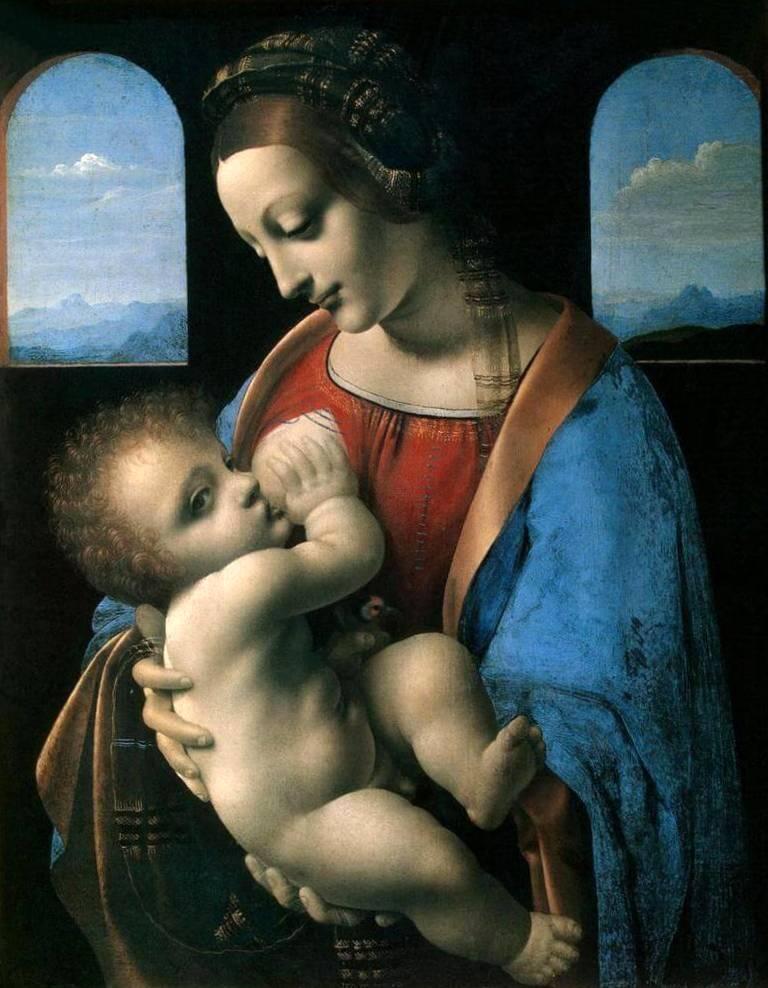 Мадонна Литта (Мадонна с младенцем) - Леонардо да Винчи (1490)