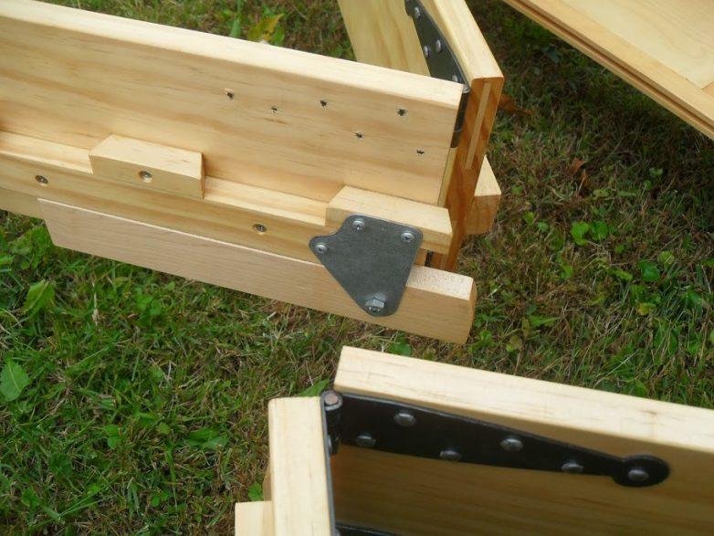 Деревянная складная кровать своими руками 75
