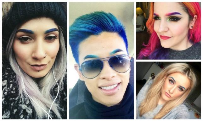Новый модный тренд в Instagram: разноцветные брови