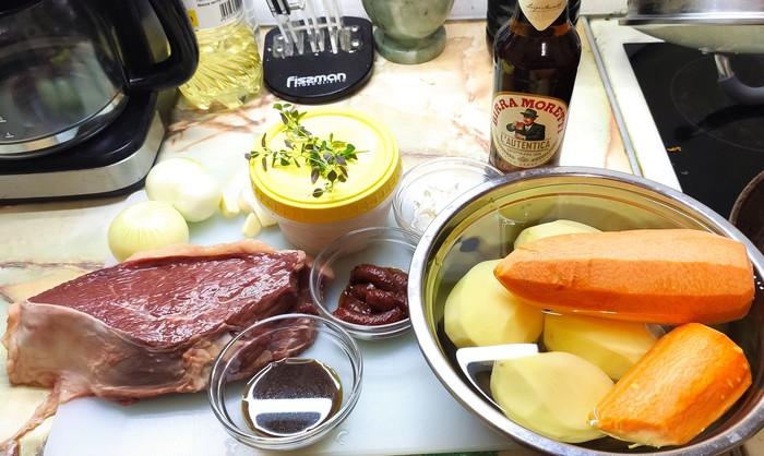 Рагу из говядины на пиве Еда, Рецепт, Рагу, Ужин, Кухня, Вкусно, Длиннопост