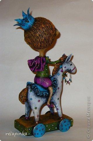 Мастер-класс Поделка изделие 23 февраля Папье-маше Принц на лошадке мастер-класс Бумага фото 47