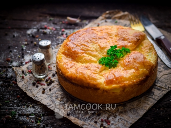 Пирог с печенью и картошкой в духовке «Луковое поле»
