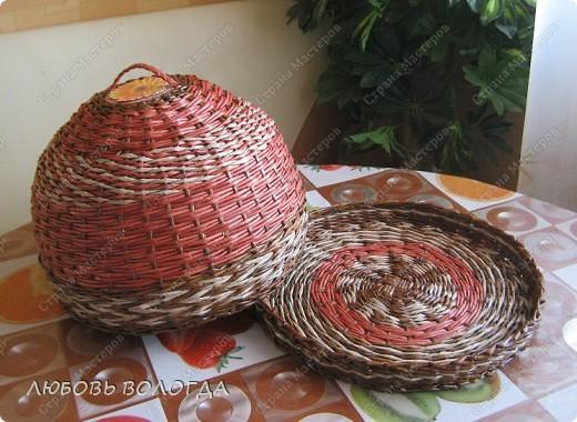 Плетение из газет. Овальные и круглые ХЛЕБНИЦЫ с крышками. Мастер-классы (40) (520x380, 219Kb)