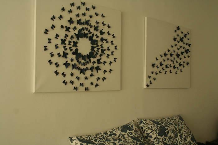 3д бабочки на стену поэтапно