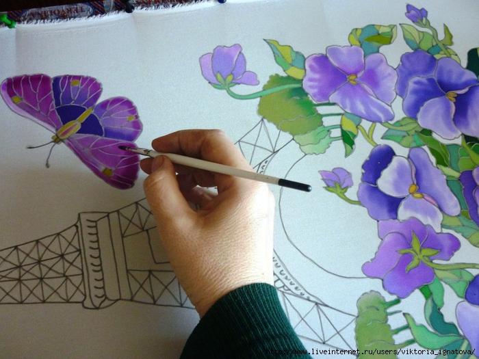 Рисунки на ткани своими руками простые 6