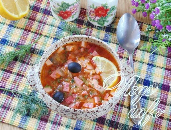 Суп солянка из квашеной капусты