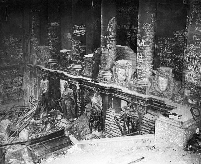 20 Советские войска оставляли надписи на Рейхстаге после взятия Берлина война история память