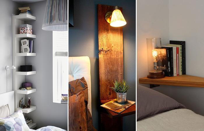 Несколько миниатюрных ночных столиков для обладателей небольших спален.