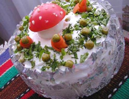 Эксклюзивные украшения салатов фото