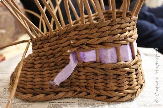 Мастер-класс Поделка изделие Плетение Как я делаю башмак Трубочки бумажные фото 12