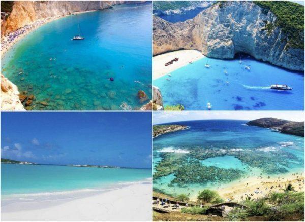Шикарные пляжи с самой чистой водой в мире