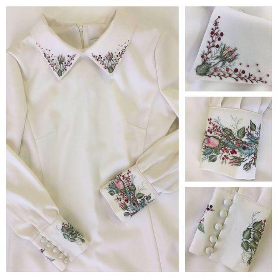 Красивая вышитая блузка