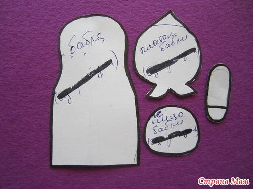 Шаблоны пальчиковых кукол