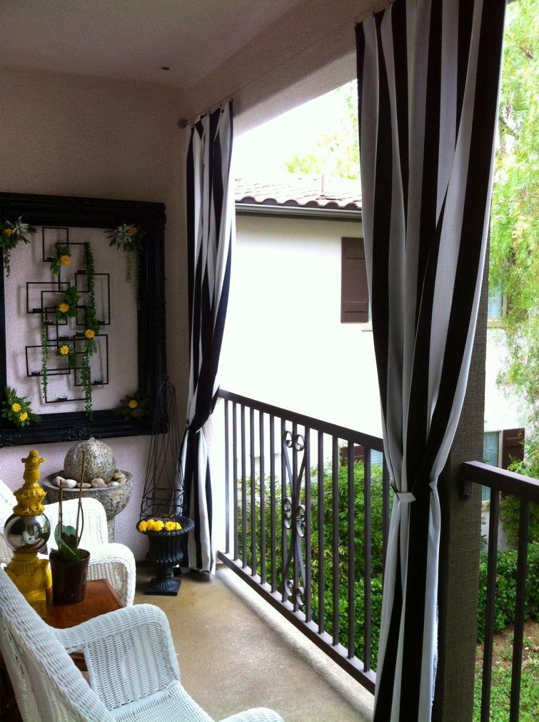 Балконы дизайн со шторами