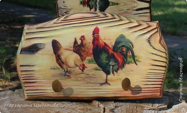 Декор предметов Мастер-класс День семьи Декупаж Ложный обжиг и браширование древесины Дерево Фанера фото 2