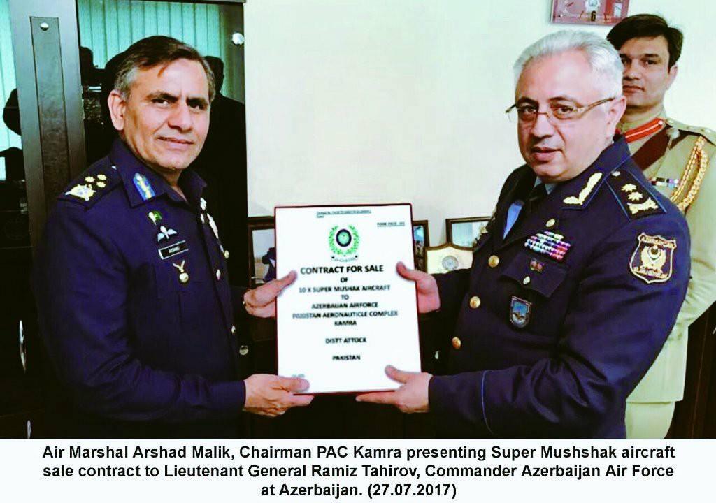 Азербайджан закупает десять пакистанских учебно-тренировочных самолетов Super Mushshak