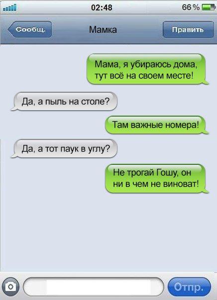Смешные СМС-ки от находчивых…