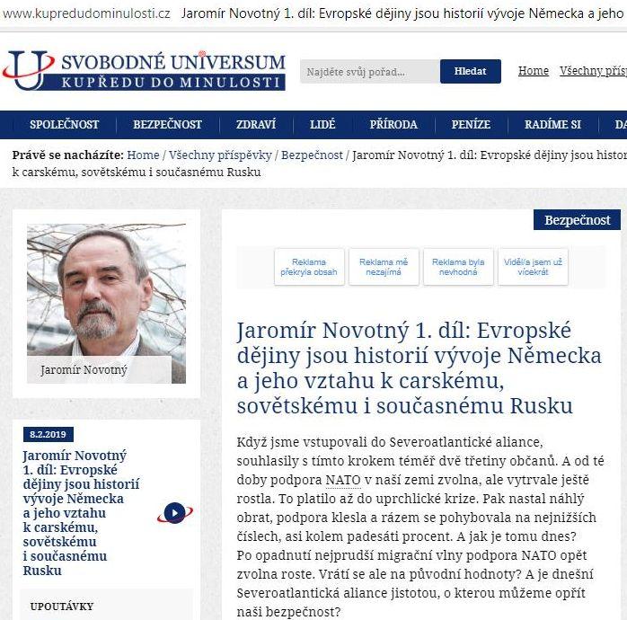 Владимир Карасёв: Еще один прозревший. Чешский экс-дипломат о НАТО