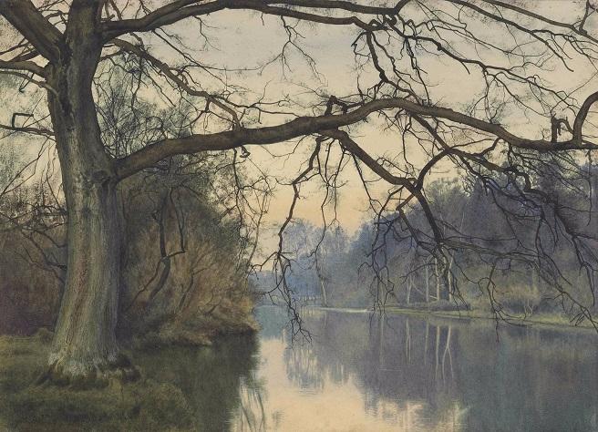 Большое дерево на берегу реки (A great tree on a riverbank). 1892 (656x474, 390Kb)
