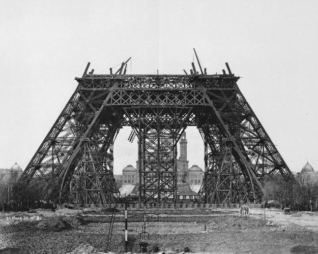 3. Эйфелева башня, Франция, 1888 год достопримечательности, здания, старые фото, строительство