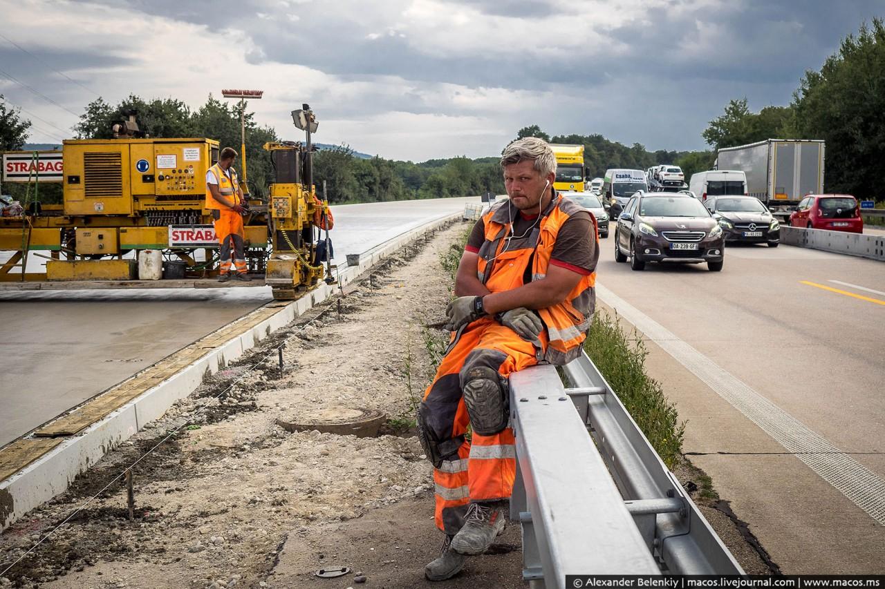 Как строят дороги в Германии…