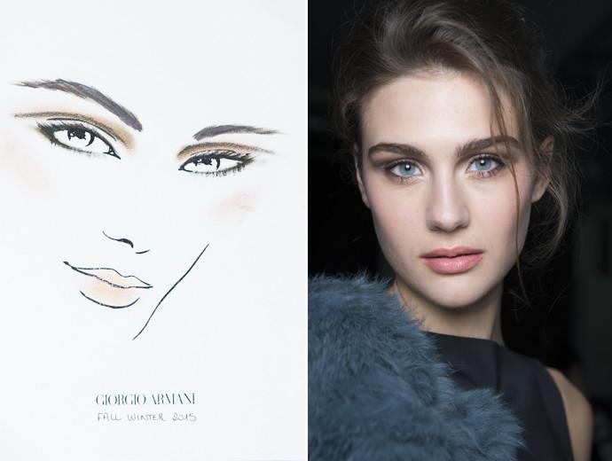Мастер-класс: макияж с показа Giorgio Armani осень-зима 2015-16