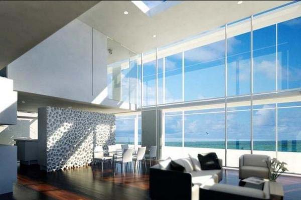 Пляжный стеклянный дом в Лонг-Айленде