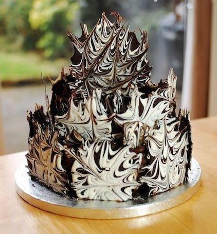 Десертный вихрь. Тортик украшаем шоколадом