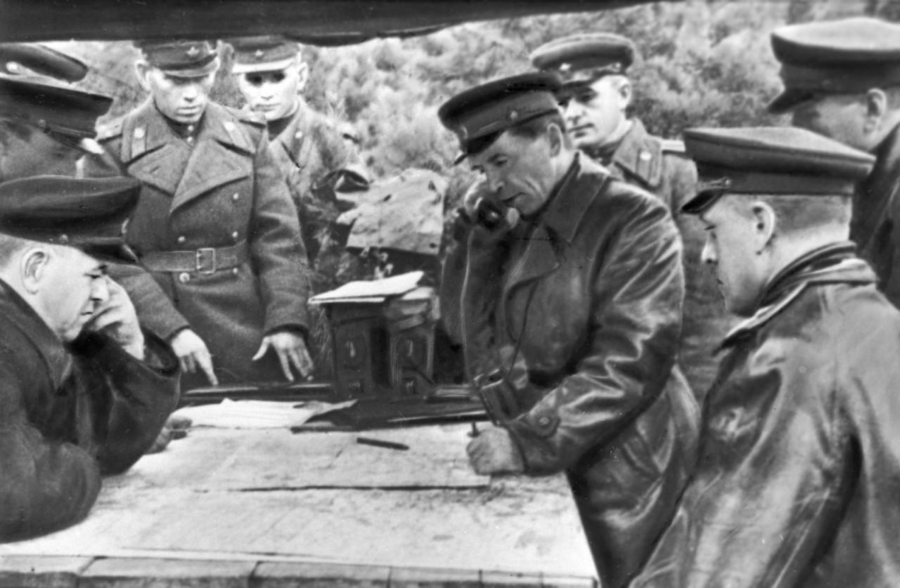 Георгий Жуков, Павел Батов и Константин Рокоссовский