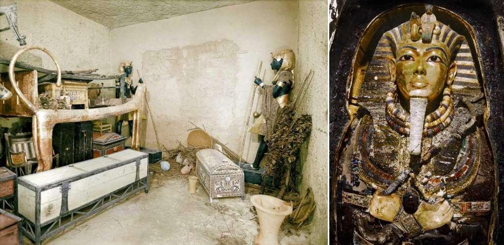 Кадры вскрытия гробницы Тутанхамона в 1922 году