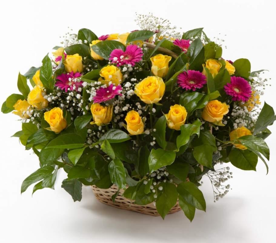 Корзина цветов своими руками фото 497
