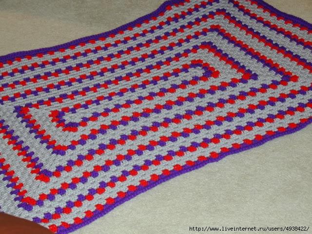 Вязание крючком коврики квадратами 83