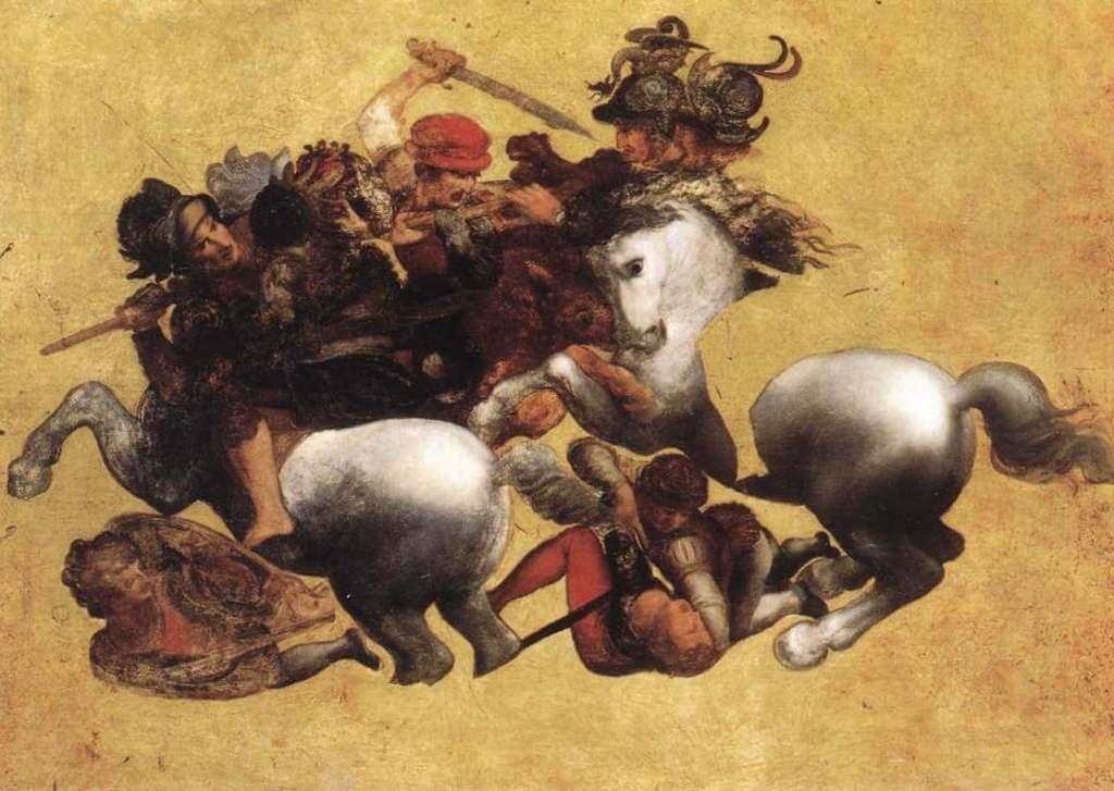 Битва при Ангиари - Леонардо да Винчи (1504)