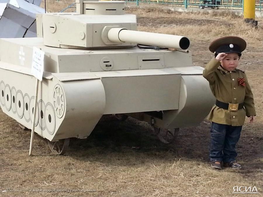 В якутском селе Майя воссоздали на 9-е мая атмосферу военных лет.  война, ссср, юмор