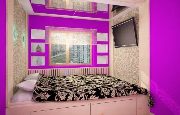 Спальные комнаты дизайн в хрущевке