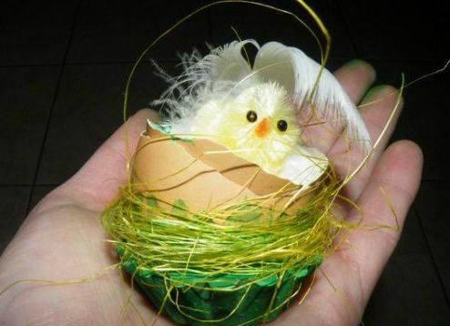Пасхальные цыплята в яичной скорлупе. Мастер-класс
