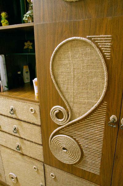 Переделка старой полированной мебели своими руками фото