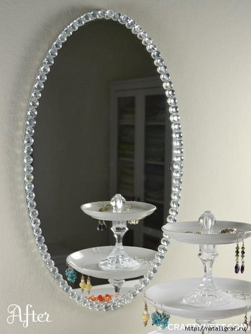 Как красиво задекорировать зеркало своими руками 61