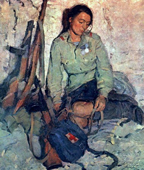 Поэзия о Великой Отечественной Войне 1941-1945 годов. . Анна Ахматова : Важно с девочками простились.